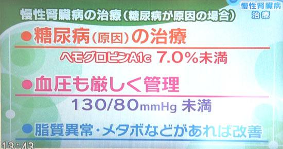 7.0%未満 主な合併症を予防する 一番多い