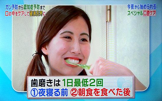 歯磨き1日2回寝るときが一番重要
