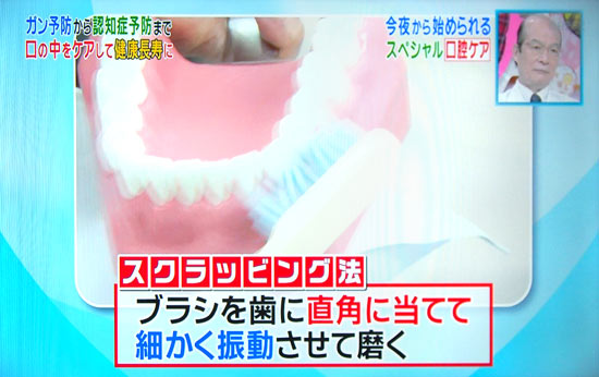 歯の磨き方はスクラッビング法