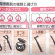 歯垢を9割取り除くことができるデンタルフロス、歯間ブラシ