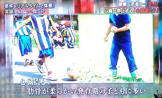 心臓しんとうでサッカー・フットサル試合で突然選手が倒れた