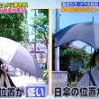 日焼けしない日傘の使い方は低く太陽の向きに向けること